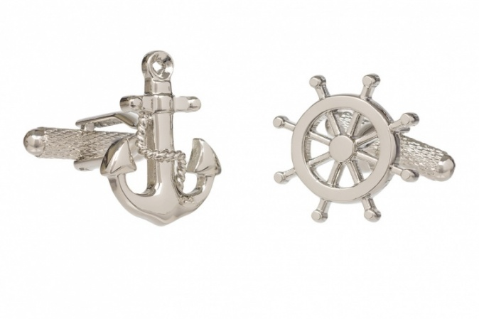 Ships Anchor and Wheel Cufflinks